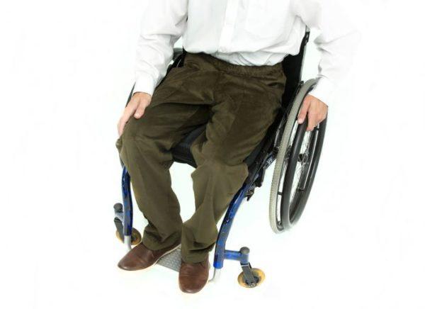 Khaki corduroy wheelchair trousers